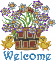 Welcome Basket embroidery design