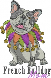 Bulldog Mom embroidery design