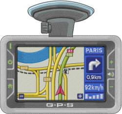 GPS Directions embroidery design