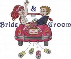 Bride Groom embroidery design