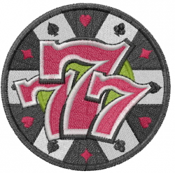 Lucky Seven embroidery design