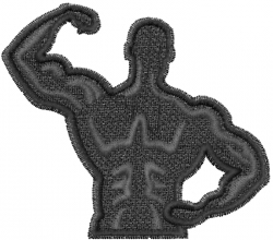 Strong Man embroidery design