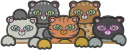 Kitty Cats embroidery design