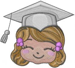 Graduation Head embroidery design