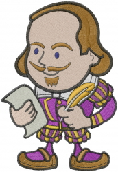 Shakespeare Man embroidery design