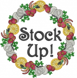 Stock Wreath embroidery design