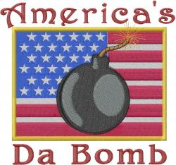 Da Bomb embroidery design