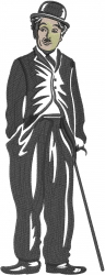 Charlie Chaplin embroidery design