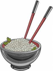 Rice Bowl embroidery design