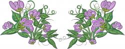 Flower Embellishment embroidery design