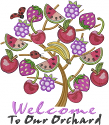 Orchard Welcome embroidery design