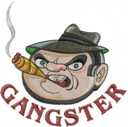 Head Gangster embroidery design