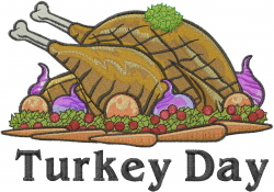 Turkey Day embroidery design