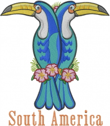 South America Birds embroidery design