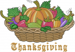 Vegetables Thanksgiving embroidery design