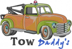 Tow Daddy embroidery design