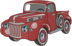 Vintage Pickup embroidery design