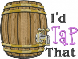 Tap Keg embroidery design