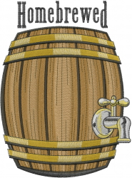 Homebrewed Keg embroidery design