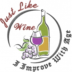 Aged Wine embroidery design