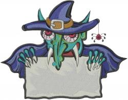Halloween Vampire embroidery design