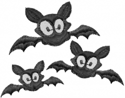 Bat Halloween embroidery design