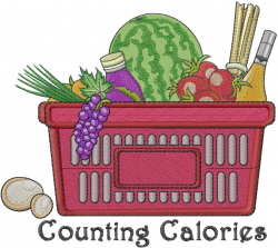 Counting Calories embroidery design