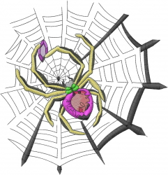 Jewelry Spider embroidery design