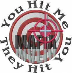Mafia Bullseye embroidery design