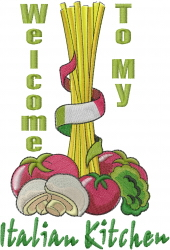 Italian Kitchen embroidery design
