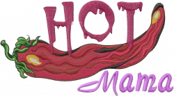 Hot Chili embroidery design