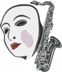 Drama & Music embroidery design