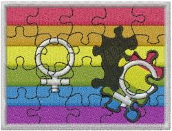 Diversity Puzzle embroidery design