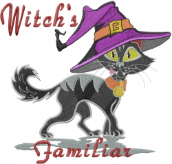 Witchs Familiar embroidery design