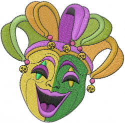 Happy Mask embroidery design