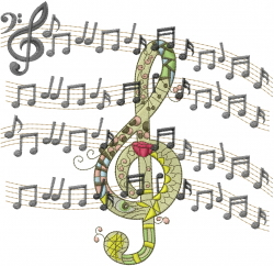 Musical Design embroidery design