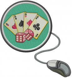 Online Gambling embroidery design