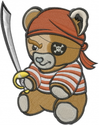 Pirate Teddy embroidery design