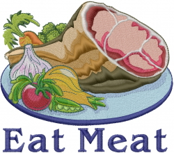 Eat Meat embroidery design