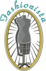 Seamstress Fashionista embroidery design