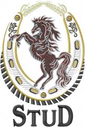 Stallion Stud embroidery design