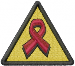 Aids Symbol embroidery design