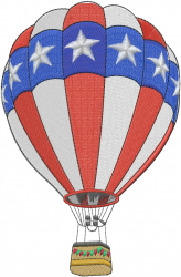 American Balloon embroidery design