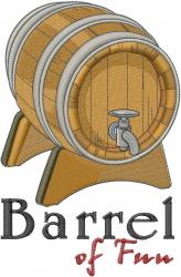 Fun Barrel embroidery design
