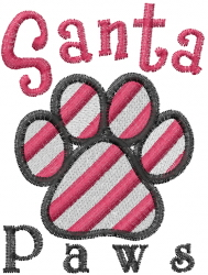 Santa Paws embroidery design