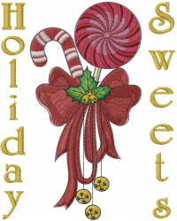 Holiday Sweets embroidery design