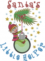 Santas Helper embroidery design