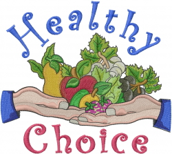 Healthy Food Choice embroidery design