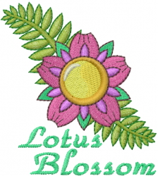 Lotus Blossom embroidery design