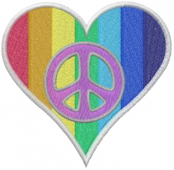 Diversity Heart embroidery design